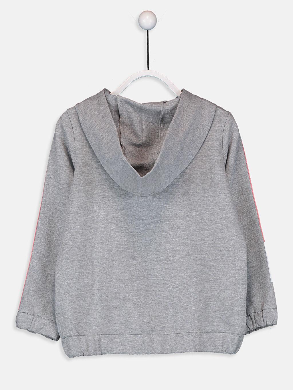 %50 Pamuk %50 Polyester Sweatshirt İnce Sweatshirt Kumaşı Kapüşonlu Düz Kız Çocuk Fermuarlı Kapüşonlu Sweatshirt