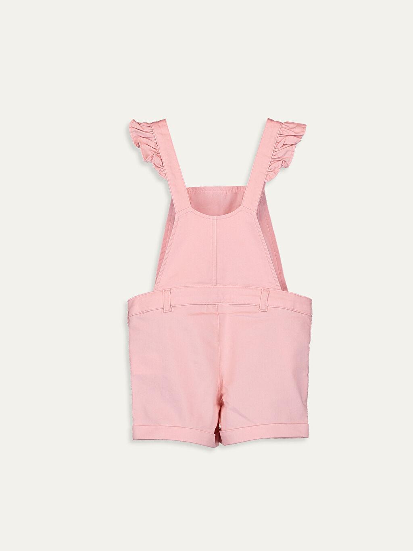 %67 Pamuk %28 Polyester %5 Elastan %35 Pamuk %65 Polyester Standart Normal Bel Düz Gabardin Midi Salopet Kız Çocuk Baskılı Gabardin Salopet