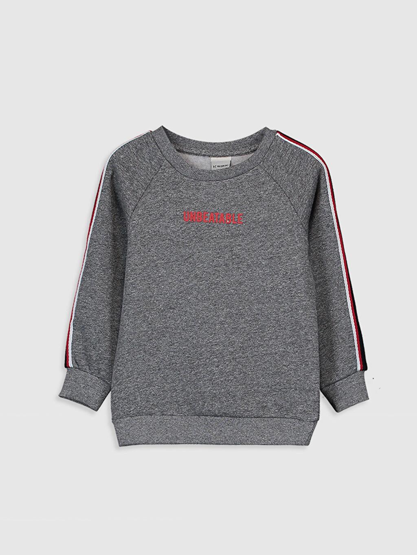 Siyah Erkek Çocuk Baskılı Sweatshirt 9WJ349Z4 LC Waikiki