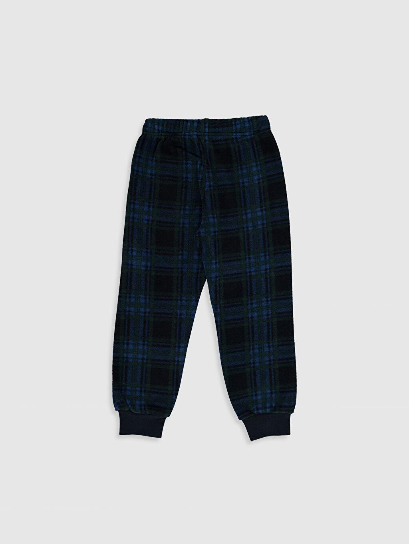 %100 Polyester Standart Pijama Alt Uzun Günlük Polar Erkek Çocuk Polar Pijama Alt