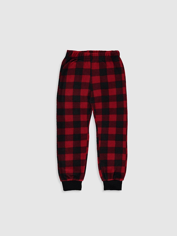 Kırmızı Erkek Çocuk Ekose Polar Pijama Alt 9WK484Z4 LC Waikiki