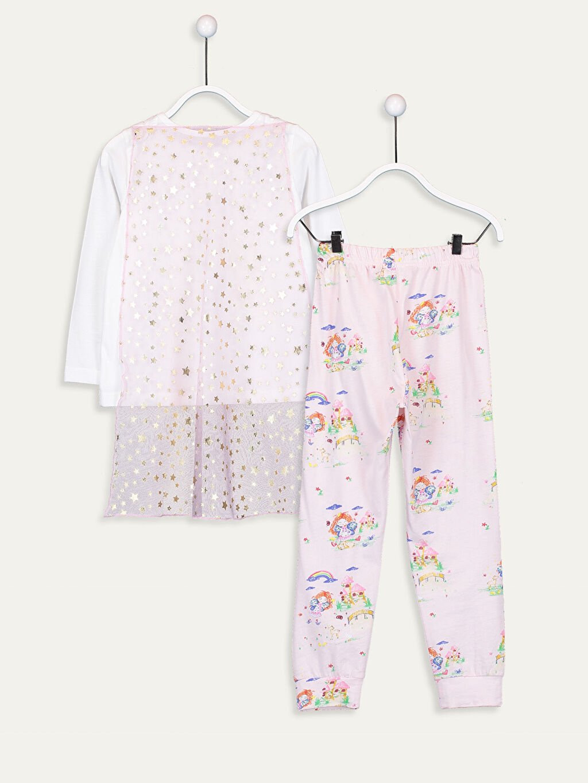 9WL517Z4 Kız Çocuk Baskılı Pamuklu Pijama Takımı