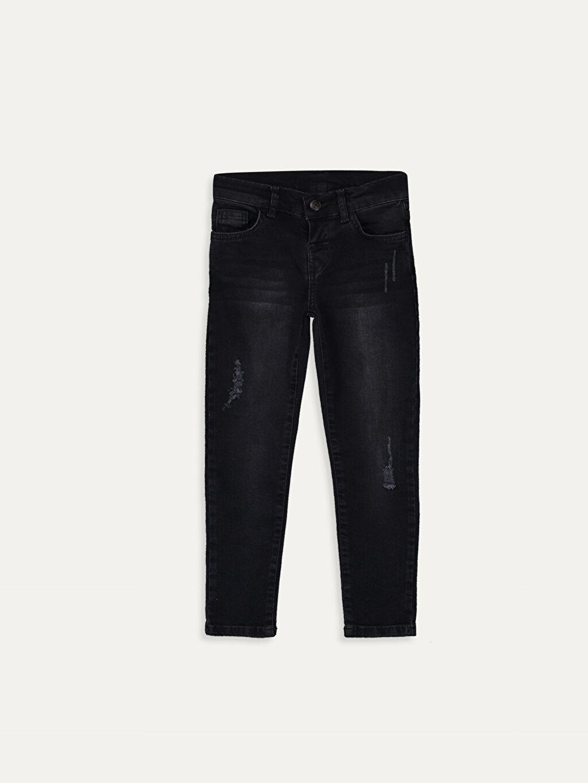 Siyah Erkek Çocuk Skinny Jean Pantolon 9WL542Z4 LC Waikiki