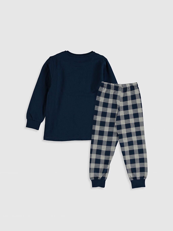 %100 Pamuk %100 Pamuk Günlük İnce Sweatshirt Kumaşı Standart Pijama Takım Erkek Çocuk Baskılı Pamuklu Pijama Takımı