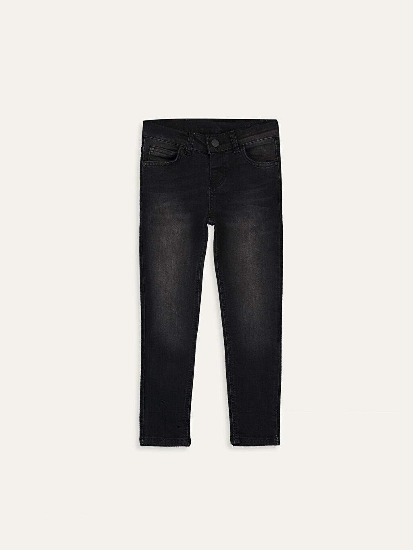 Siyah Erkek Çocuk Slim Jean Pantolon 9WL618Z4 LC Waikiki