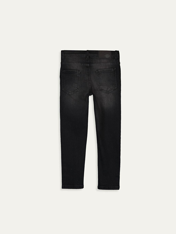 %99 Pamuk %1 Elastan Jean Aksesuarsız Normal Bel Astarsız Dar Düz Beş Cep Erkek Çocuk Slim Jean Pantolon
