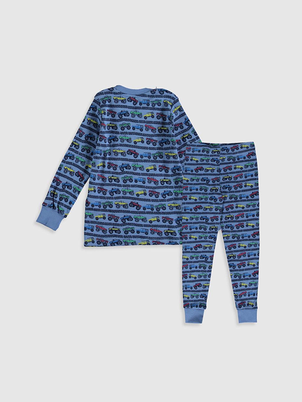 %100 Pamuk %100 Pamuk Günlük Ribana Standart Pijama Takım Erkek Çocuk Baskılı Pamuklu Pijama Takımı