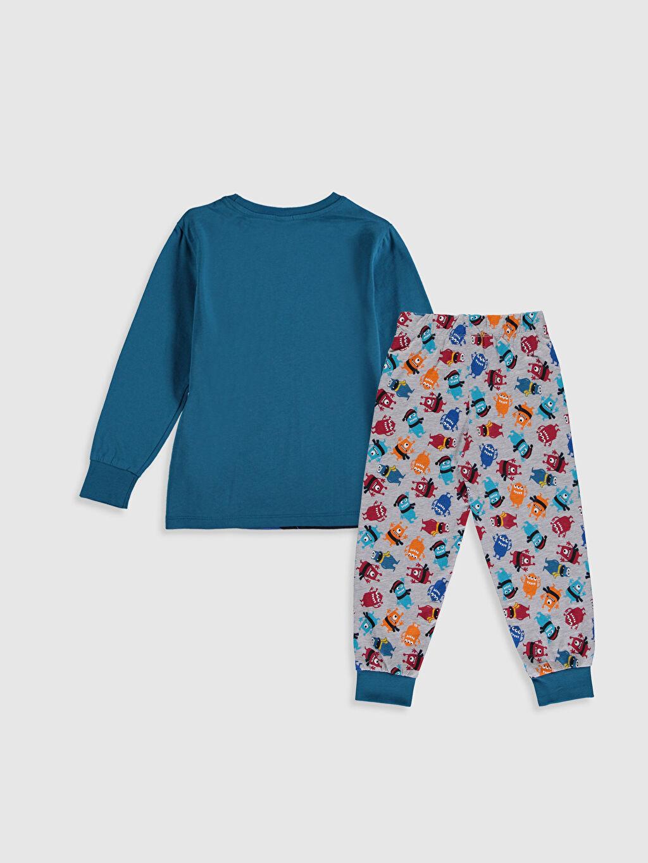 %100 Pamuk %100 Pamuk Günlük Penye Standart Pijama Takım Erkek Çocuk Baskılı Pamuklu Pijama Takımı