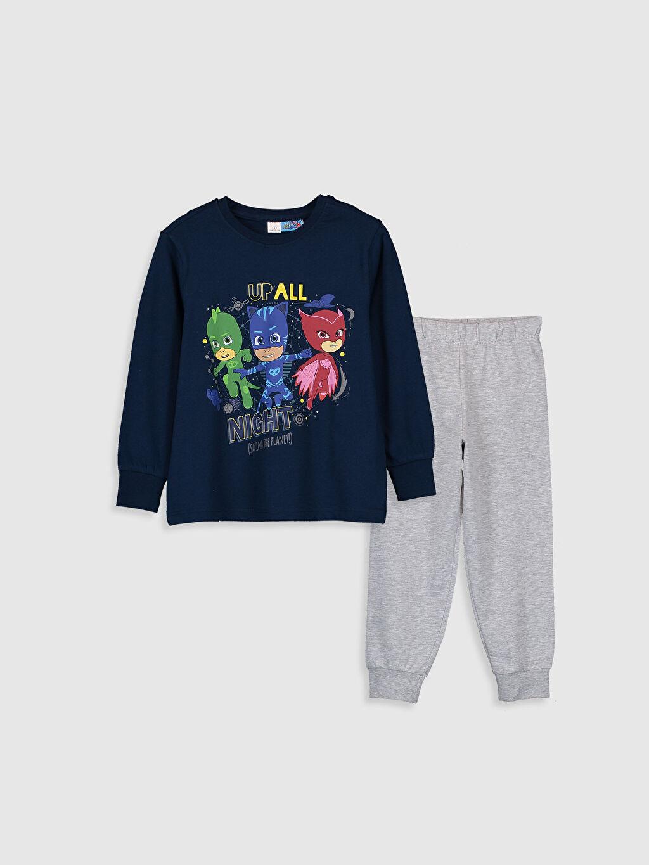 Lacivert Erkek Çocuk Pijamaskeliler Pijama Takımı 9WL861Z4 LC Waikiki