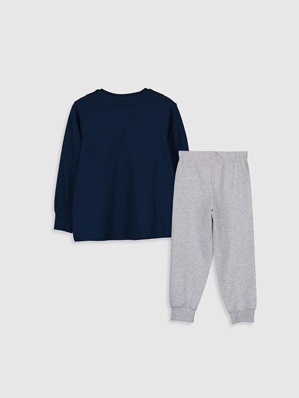%100 Pamuk Standart Pijama Takım Günlük İnce Sweatshirt Kumaşı Erkek Çocuk Pijamaskeliler Pijama Takımı
