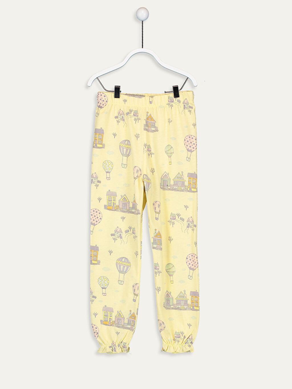 9WM310Z4 Kız Çocuk Baskılı Pamuklu Pijama Takımı