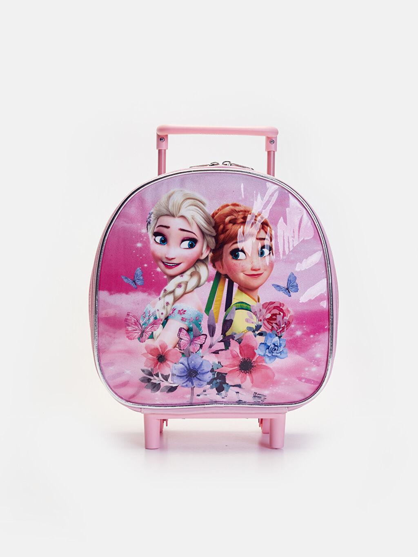 Pembe Kız Çocuk Frozen Çekçekli Çanta 9WM561Z4 LC Waikiki