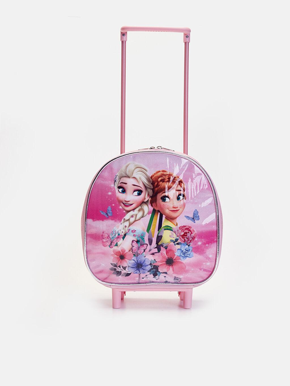 %100 Poliüretan %100 Polipropilen Günlük Çanta Frozen Kız Çocuk Frozen Çekçekli Çanta