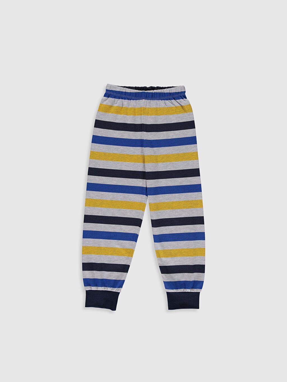 %50 Pamuk %50 Polyester Erkek Çocuk Baskılı Pijama Takımı