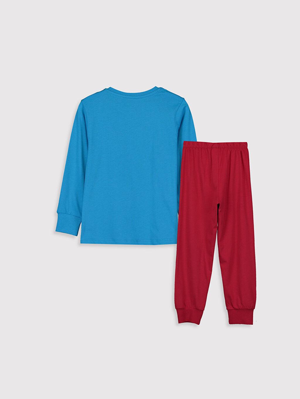 %100 Pamuk %100 Pamuk Pijama Takım Günlük Penye Standart Erkek Çocuk Baskılı Pamuklu Pijama Takımı