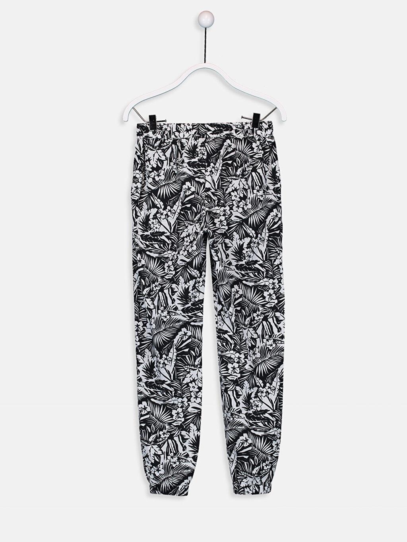 %100 Pamuk %100 Pamuk Baskılı Bol Normal Bel Pantolon Aile Koleksiyonu Kız Çocuk Desenli Pamuklu Jogger Pantolon