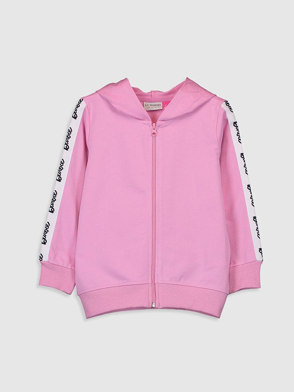 Pembe Kız Çocuk Barbie Baskılı Fermuarlı Sweatshirt 9WM702Z4 LC Waikiki