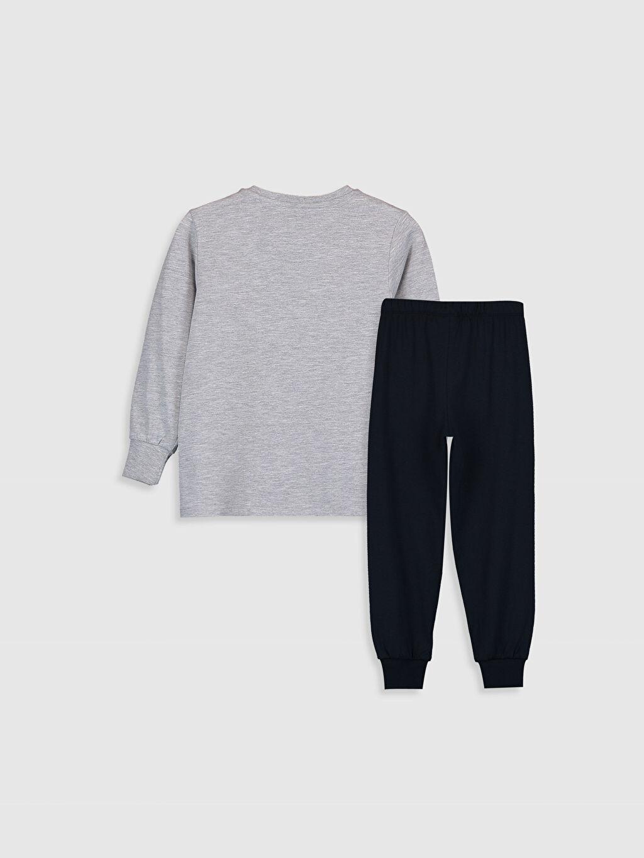 %49 Pamuk %51 Polyester Standart Pijama Takım Günlük Süprem Erkek Çocuk Nostaljik Maymun Baskılı Pijama Takımı