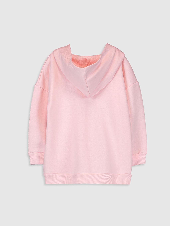 %87 Pamuk %13 Polyester Üç İplik İçi Tüylü Kapüşonlu Düz Sweatshirt Kız Çocuk Lisans Baskılı Kapüşonlu Sweatshirt
