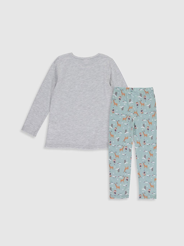%49 Pamuk %51 Polyester %100 Pamuk Penye Standart Pijama Takım Kız Çocuk Baskılı Uzun Kollu Pijama Takımı
