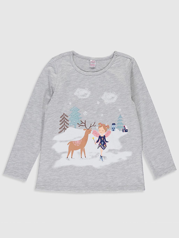 Kız Çocuk Kız Çocuk Baskılı Uzun Kollu Pijama Takımı