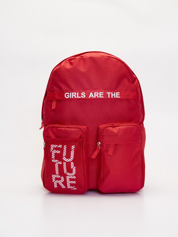 Kırmızı Kız Çocuk Sırt Çantası 9WN068Z4 LC Waikiki