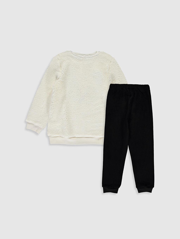 %100 Polyester Pelüş Standart Pijama Takım Kız Çocuk Pelüş Pijama Takımı