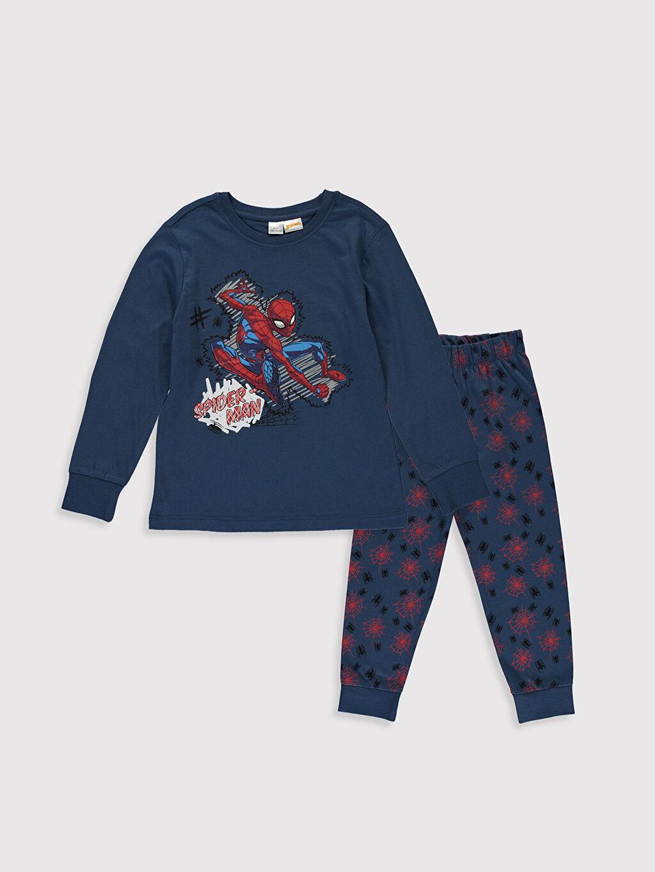 Lacivert Erkek Çocuk Spiderman Pijama Takımı 9WN279Z4 LC Waikiki