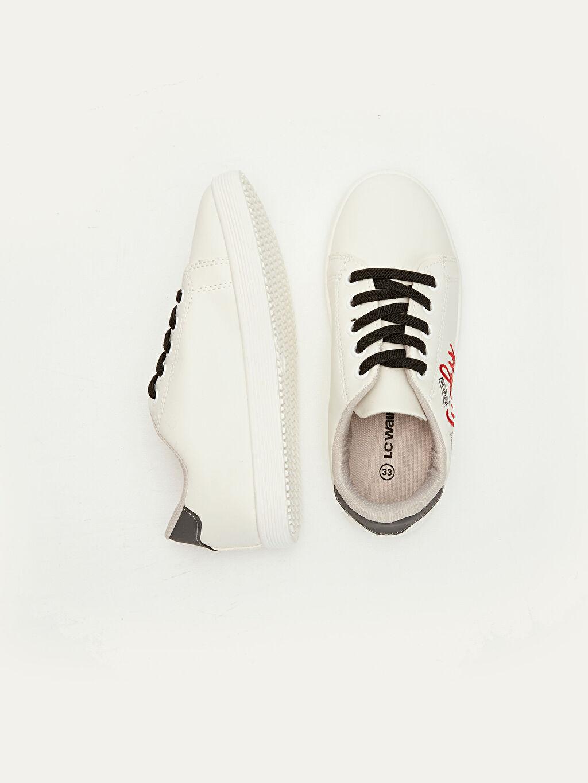 Diğer malzeme (pvc) Tekstil malzemeleri Kısa Penye Astar Bağcık Günlük Sneaker Erkek Çocuk Bağcıklı Spor Ayakkabı