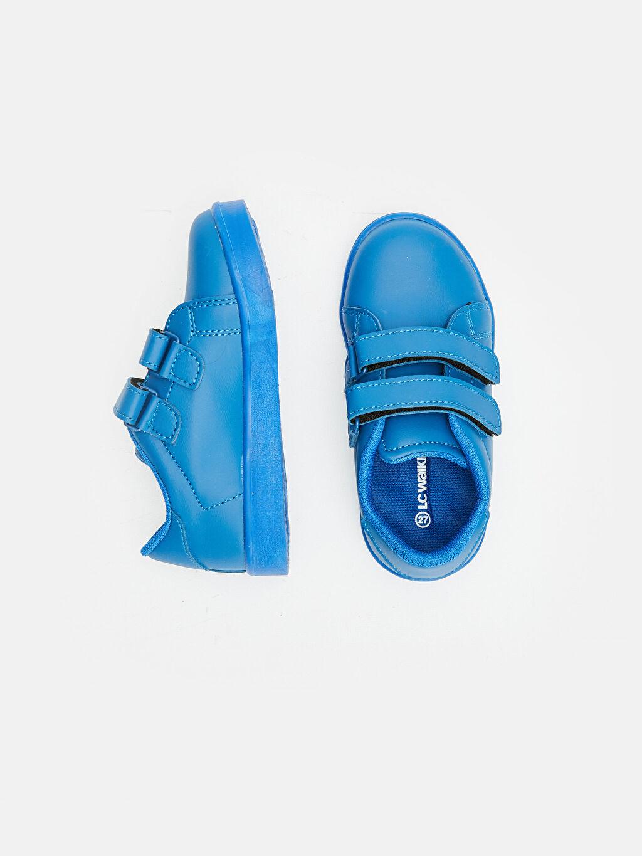 Kısa Sneaker Günlük Penye Astar Cırt Cırt Erkek Çocuk Işıklı Spor Ayakkabı