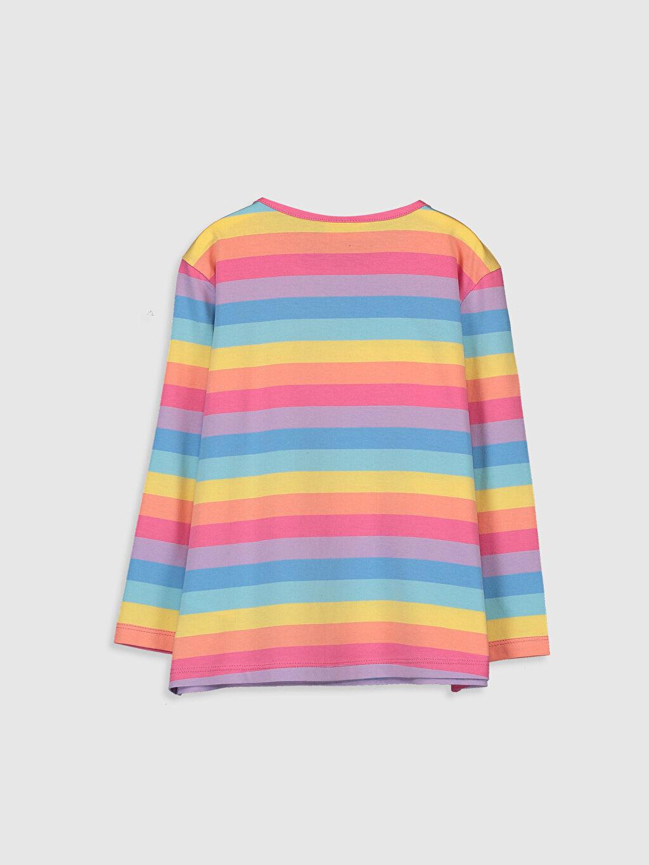 Kız Çocuk Kız Çocuk Baskılı Pul İşlemeli Tişört