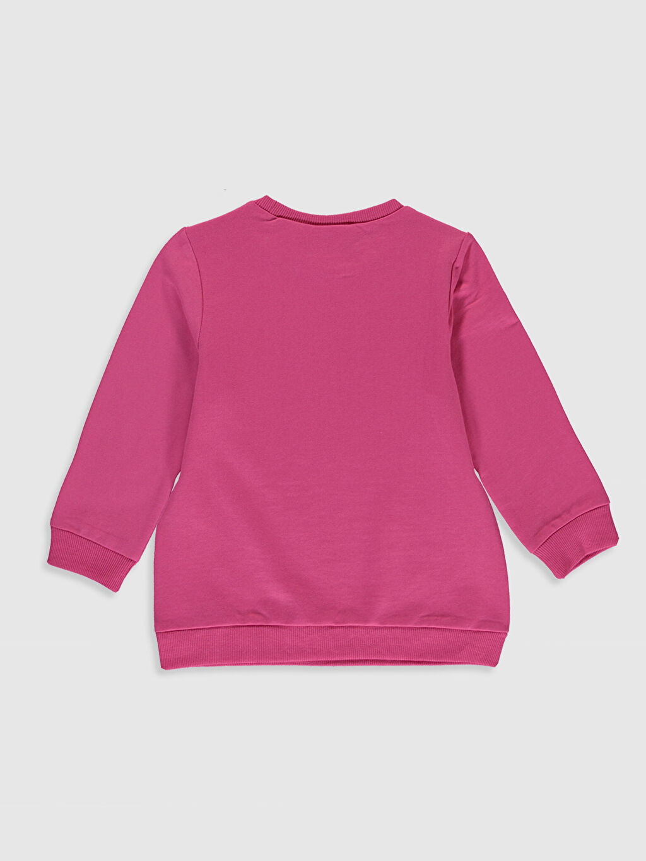 %70 Pamuk %30 Polyester Kapüşonsuz Düz İnce Sweatshirt Kumaşı Sweatshirt Kız Çocuk Tom ve Jerry Baskılı Sweatshirt