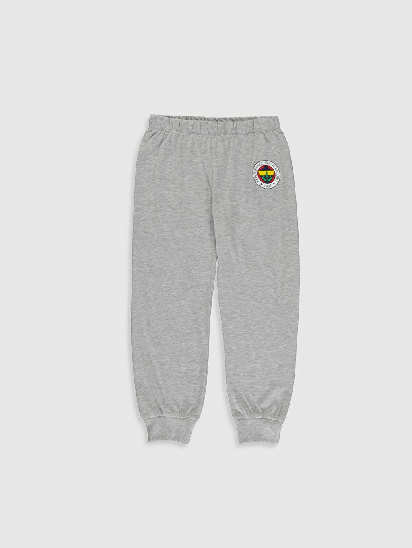 %100 Pamuk Erkek Çocuk Fenerbahçe Amblemli Pamuklu Pijama Takımı