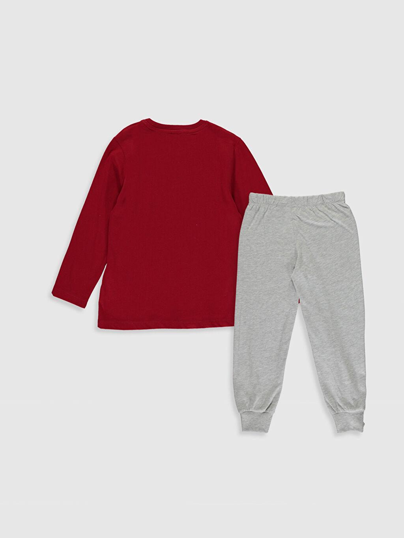 %100 Pamuk %100 Pamuk Penye Standart Pijama Takım Günlük Erkek Çocuk Galatasaray Amblemli Pamuklu Pijama Takımı