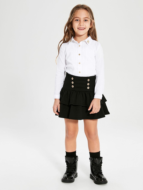 Kız Çocuk Kız Çocuk Uzun Kollu Poplin Gömlek