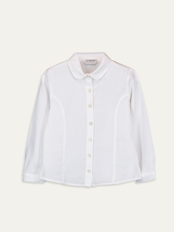 Ekru Kız Çocuk Uzun Kollu Flanel Gömlek 9WQ145Z4 LC Waikiki
