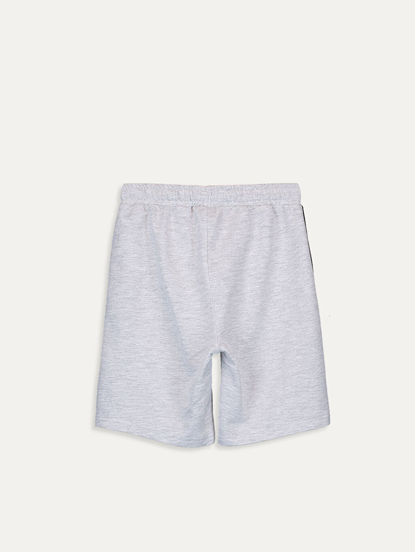 %68 Pamuk %32 Polyester Şort Düz İnce Sweatshirt Kumaşı Erkek Çocuk Yazı Baskılı Roller