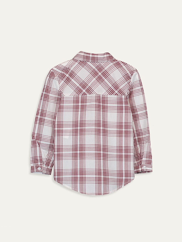 %100 Pamuk %100 Pamuk Bluz Gömlek Yaka Aksesuarsız Poplin Çizgili Kız Çocuk Pamuklu Ekose Gömlek