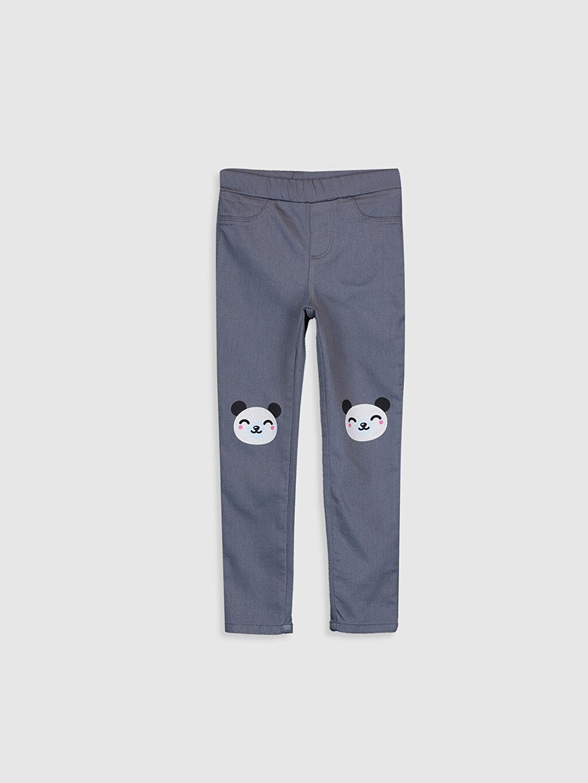Gri Kız Çocuk Skinny Gabardin Pantolon 9WR134Z4 LC Waikiki
