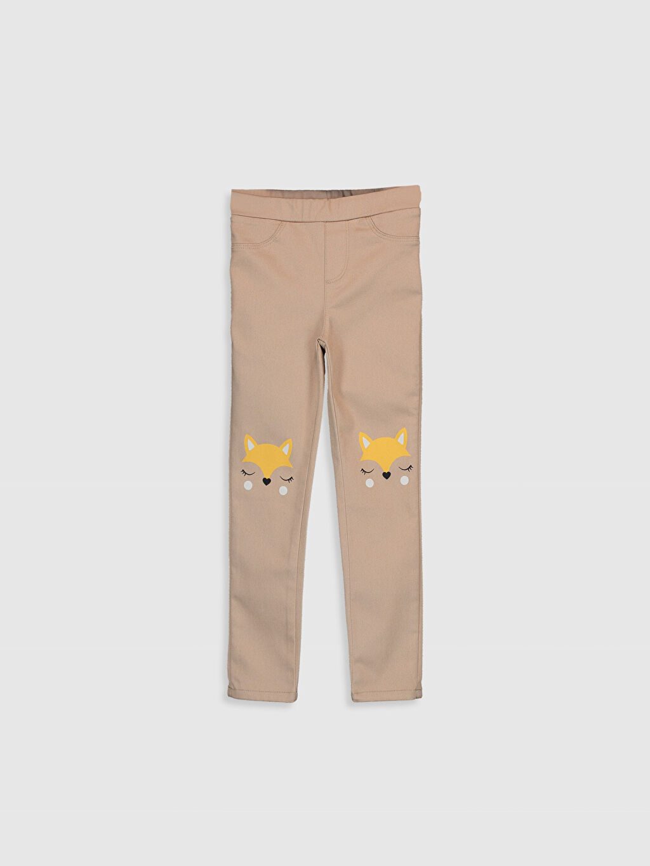 Bej Kız Çocuk Skinny Gabardin Pantolon 9WR134Z4 LC Waikiki