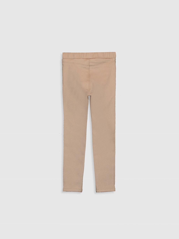 %67 Pamuk %29 Polyester %4 Elastan Gabardin Normal Bel Dar Pantolon Düz Kız Çocuk Skinny Gabardin Pantolon
