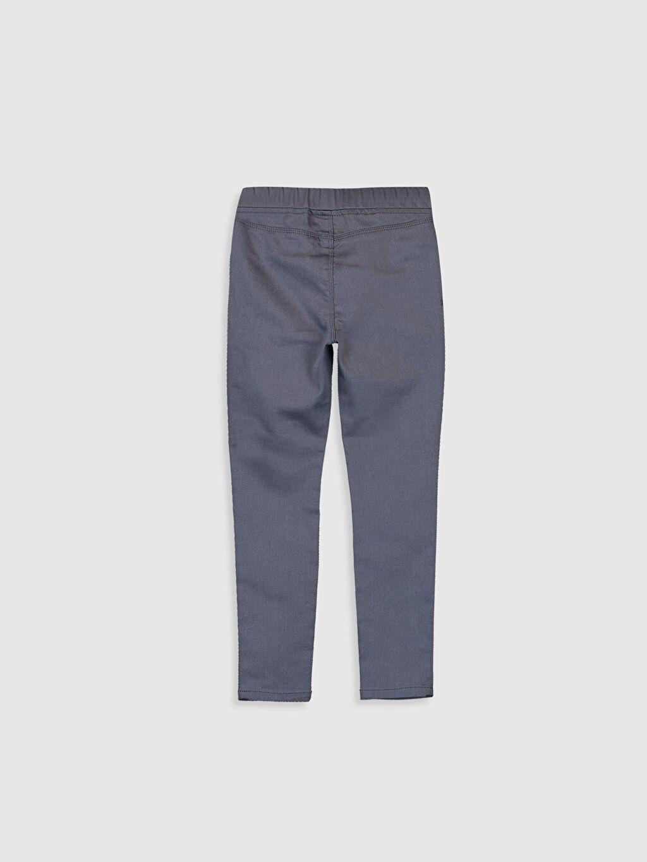 %67 Pamuk %29 Polyester %4 Elastan Gabardin Normal Bel Dar Pantolon Düz Kız Çocuk Nakışlı Skinny Pantolon