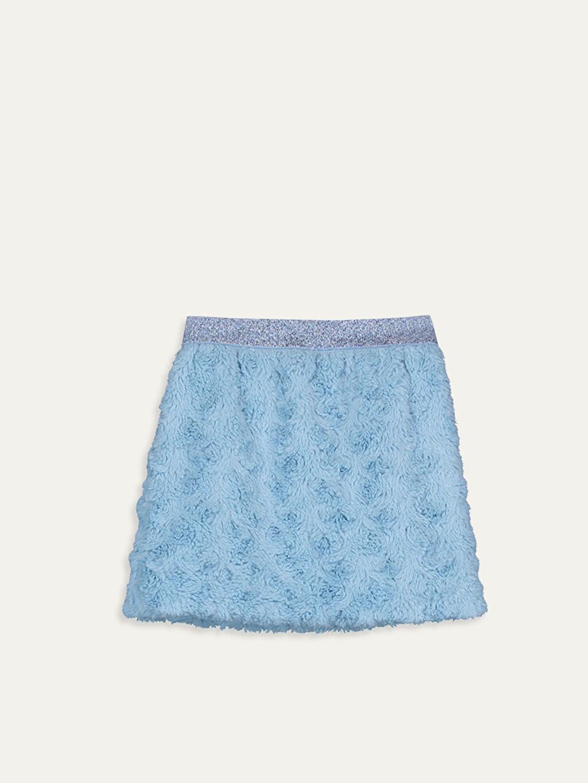 %100 Polyester %100 Pamuk Etek Düz Kız Çocuk Pelüş Etek