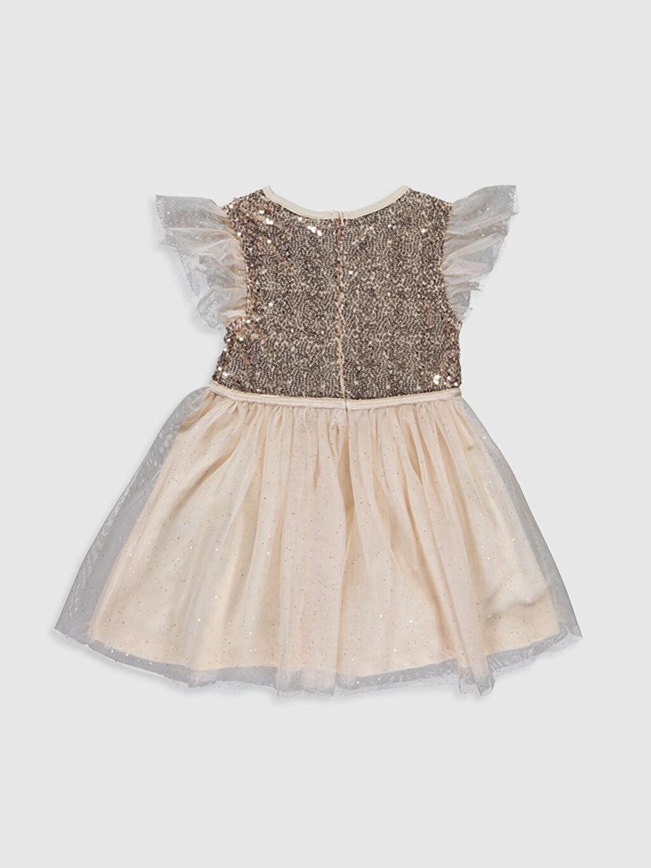 %100 Polyester %80 Polyester %20 Metalik iplik %100 Pamuk Elbise Tül Belden Oturtma Bisiklet Yaka Düz Diz Üstü Kız Çocuk Pul İşlemeli Tütü Elbise ve Taç