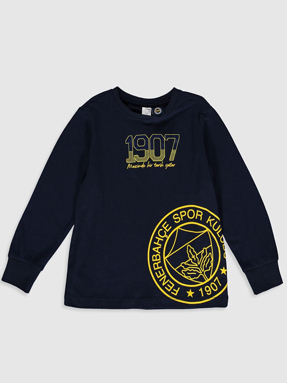Erkek Çocuk Erkek Çocuk Fenerbahçe Amblemli ve Baskılı Pijama Takımı