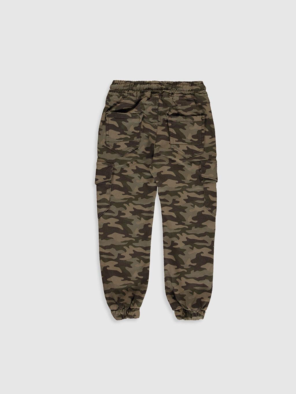 %98 Pamuk %2 Elastan Baskılı Normal Bel Astarsız Dar Pantolon Aksesuarsız Gabardin Erkek Çocuk Kamuflaj Desenli Kargo Pantolon