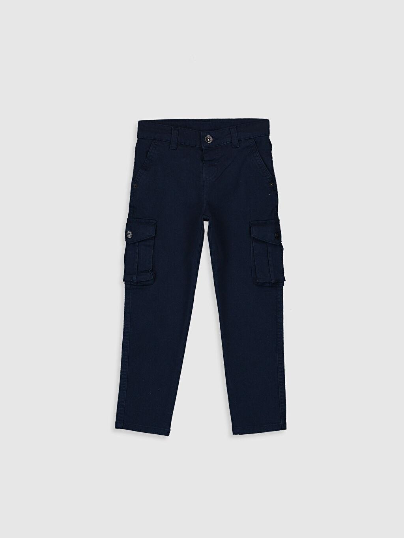 Lacivert Erkek Çocuk Slim Kargo Pantolon 9WS178Z4 LC Waikiki
