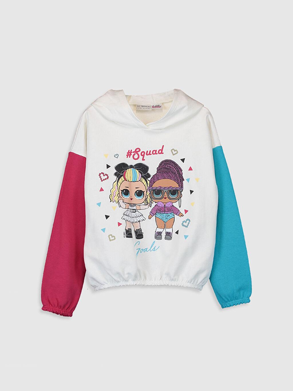 Ekru Kız Çocuk Lol Bebek Baskılı Sweatshirt 9WS315Z4 LC Waikiki