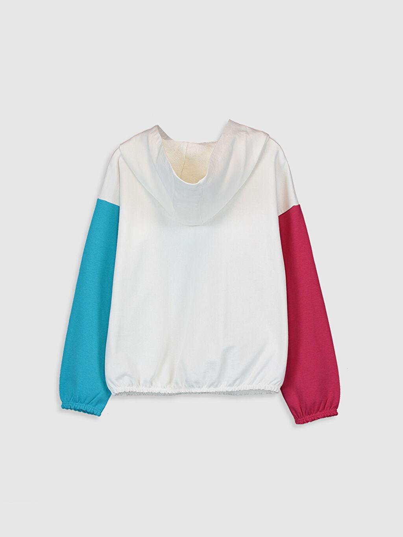 %86 Pamuk %14 Polyester Kalın Sweatshirt Kumaşı Sweatshirt Kapüşonlu Düz Kız Çocuk Lol Bebek Baskılı Sweatshirt