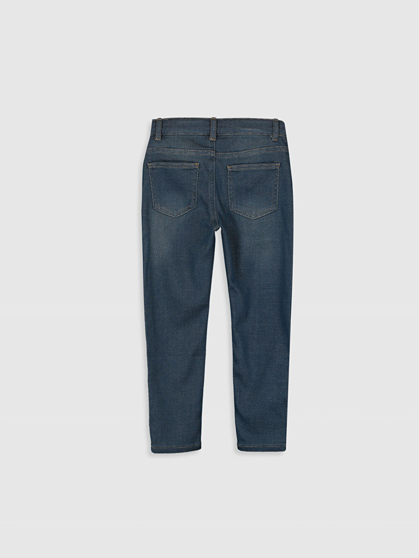 %82 Pamuk %17 Polyester %1 Elastan Aksesuarsız Normal Bel Astarsız Dar Jean Düz Beş Cep Erkek Çocuk Super Skinny Jean Pantolon